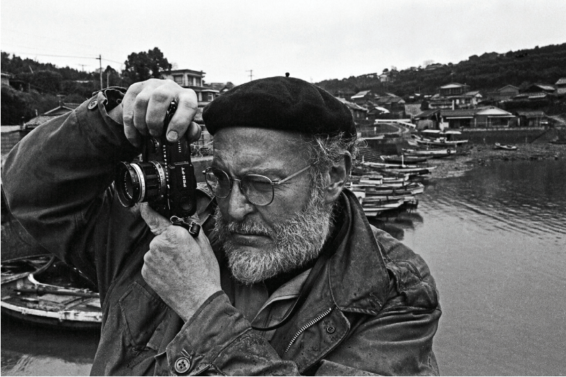 Takeshi Ishikawa W. Eugene Smith Photographing a Fishing Village in Minamata, 1973 gelatin silver print ©Takeshi Ishikawa, Courtesy Etherton Gallery